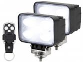 2x AdLuminis LED Arbeitsscheinwerfer 50W mit Funkfernbedienung