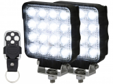 2x AdLuminis LED Arbeitsscheinwerfer 25W mit Funkfernbedienung