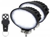2x AdLuminis LED Arbeitsscheinwerfer 65W mit Funkfernbedienung
