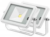 2x Projecteur LED 10W 800lm blanc avec détecteur de mouvement intégré AdLuminis