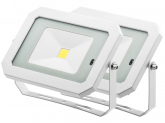 2x Projecteur LED 30W 2.400lm blanc avec détecteur de mouvement intégré AdLuminis