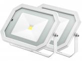2x Projecteur LED 50W 4.000lm blanc avec détecteur de mouvement intégré AdLuminis