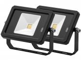 2x Projecteur LED 10W 800lm noir avec détecteur de mouvement intégré AdLuminis