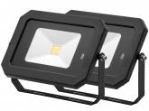 2x Projecteur LED 30W 2.400lm noir avec détecteur de mouvement intégré AdLuminis