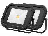 2x Projecteur LED 50W 4.000lm noir avec détecteur de mouvement intégré AdLuminis