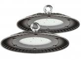 2x Cloche LED UFO high bay 60W 6.000lm suspension industrielle AdLuminis