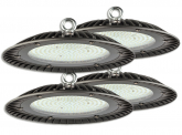 4x Cloche LED UFO high bay 200W 20.000lm suspension industrielle AdLuminis