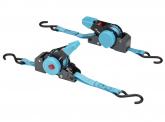 FKS Trailer Automatik Spanngurt 20mm x 2m 100/200 kg, blau -2er Set-