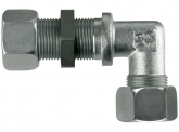 Gewinkelte Schottverschraubung L22-M30x2 mit M+S