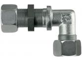 Gewinkelte Schottverschraubung S16-M24x1,5 mit M+S