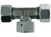 einstellbare T-Verschraubung L22-M30x2 mit M+S