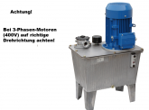 Hydraulikaggregat mit Elektromotor,Spannung 400V, Tank 27L,Leistung 3,0KW, Pumpe 8,4L, geeignet für Hebebühne