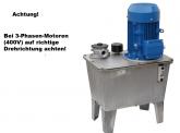 Hydraulikaggregat mit Elektromotor,Spannung 400V, Tank 27L,Leistung 4,0KW, Pumpe 12,2L, geeignet für Hebebühne