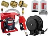 Blurea Dieseltankanlagen Set Digital mit Schlauchaufroller & Dieselfilter-Set