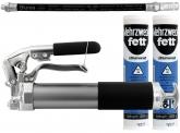 Blurea Teleskophebel Fettpresse mit 2x KAJO Fett & Panzerschlauch