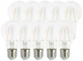 10x AdLuminis LED Bulb klar E27 2,5W 250 Lumen 2.700K