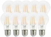 10x AdLuminis LED Bulb klar E27 4,5W 470 Lumen 2.700K