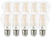 10x AdLuminis LED Bulb klar E27 7W 806 Lumen 2.000K