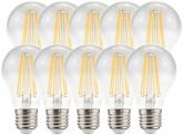 10x AdLuminis LED Bulb klar E27 8W 1.055 Lumen 2.700K