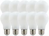 10x AdLuminis LED Bulb matt E27 4,5W 470 Lumen 2.700K