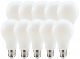 10x AdLuminis LED Bulb E27 matt 11W 1521 Lumen warmweiß