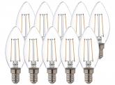 10x AdLuminis LED Candle klar E14 2,5W 250 Lumen 2.000K