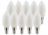 10x AdLuminis LED Candle matt E14 4,5W 470 Lumen 4.000K