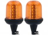 2x AdLuminis LED Aktions-Rundumleuchte mit flexiblem Fuß