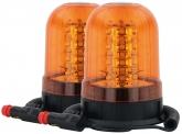 2x AdLuminis LED Aktions-Rundumleuchte mit Magnetfuß