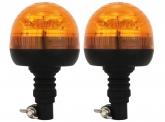 2x AdLuminis LED Mini-Rundumleuchte mit flexiblem Fuß