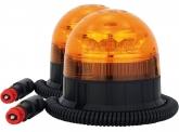2x AdLuminis LED-Mini-Rundumleuchte mit Magnetfuß