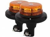 2x AdLuminis LED Micro-Rundumleuchte mit flexiblem Fuß