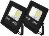 2x AdLuminis SMD LED Fluter flach 10W Tagweiß 800 Lumen