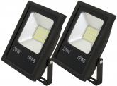 2x AdLuminis SMD LED Fluter flach 20W Tagweiß 1.600 Lumen