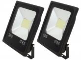 2x AdLuminis SMD LED Fluter flach 50W Tagweiß 4.100 Lumen