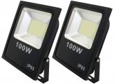 2x AdLuminis SMD LED Fluter flach 100W Tagweiß 7.400 Lumen