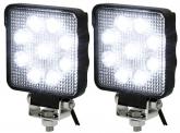 2x AdLuminis LED Arbeitsscheinwerfer T4927 15W OSRAM LED IP69K