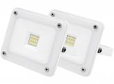 2x AdLuminis SMD LED Fluter 10W 900 Lumen weiß Glas-Design