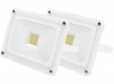 2x AdLuminis SMD LED Fluter 30W 2.700 Lumen weiß Glas-Design