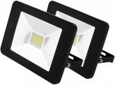2x AdLuminis SMD LED Fluter mit int. Bewegungsmelder 30W schwarz