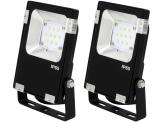 2x Projecteur LED Philips plat 10W 1.300lm PCCooler AdLuminis