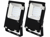 2x Projecteur LED Philips plat 20W 2.600lm PCCooler AdLuminis