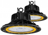 2x Cloche LED UFO high bay 100W 14.500lm dimmable suspension industrielle AdLuminis