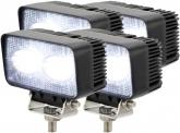 4x AdLuminis LED Arbeitsscheinwerfer T1020 20 Watt 1.800 Lumen