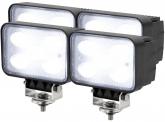 4x AdLuminis LED Arbeitsscheinwerfer T1050 50W 120° 4.000 Lumen