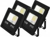 4x AdLuminis SMD LED Fluter flach 10W Tagweiß 800 Lumen