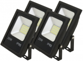4x AdLuminis SMD LED Fluter flach 20W Tagweiß 1.600 Lumen