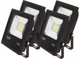 4x AdLuminis SMD LED Fluter flach 30W Tagweiß 2.300 Lumen