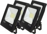 4x AdLuminis SMD LED Fluter flach 50W Tagweiß 4.100 Lumen