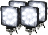 4x AdLuminis LED Arbeitsscheinwerfer T4927 15W OSRAM LED IP69K